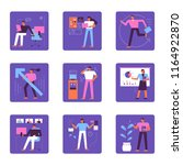 various business life of... | Shutterstock .eps vector #1164922870