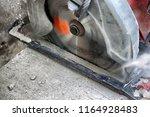 power circular saw blade... | Shutterstock . vector #1164928483