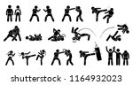 mma mixed martial arts actions. ... | Shutterstock .eps vector #1164932023