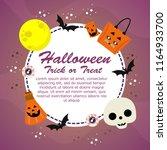 happy halloween party... | Shutterstock .eps vector #1164933700