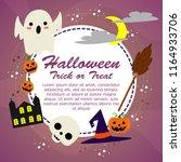 happy halloween party... | Shutterstock .eps vector #1164933706