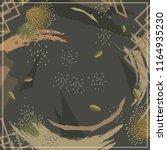 floral scarf design with splash ... | Shutterstock .eps vector #1164935230