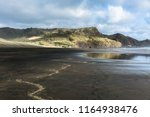 black sand with yellow traces... | Shutterstock . vector #1164938476