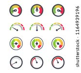 speedometer icon  circular... | Shutterstock .eps vector #1164939196