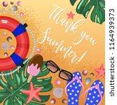 thank you summer sea beach... | Shutterstock .eps vector #1164939373