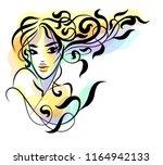 vector  stylish  original hand... | Shutterstock .eps vector #1164942133