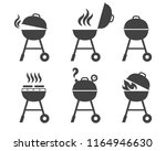 barbeque grill icons. vector... | Shutterstock .eps vector #1164946630