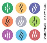heat steam icons. colored hot... | Shutterstock .eps vector #1164946633