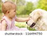 baby girl in summer dress... | Shutterstock . vector #116494750