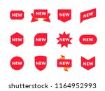 collection of various shaped... | Shutterstock . vector #1164952993