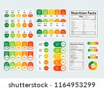composed labels of nutritional... | Shutterstock . vector #1164953299