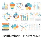 business infographics set with... | Shutterstock . vector #1164955060