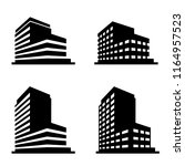 buildings icons vector. | Shutterstock .eps vector #1164957523
