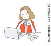 vector illustration character... | Shutterstock .eps vector #1164963160