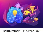 brain with bulb and user runs... | Shutterstock .eps vector #1164965209