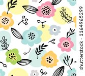 simple seamless pattern with... | Shutterstock .eps vector #1164965299