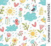 cute seamless pattern with... | Shutterstock .eps vector #1164965326