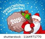 vector santa claus 2019 | Shutterstock .eps vector #1164971770