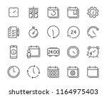 set of time relation vector... | Shutterstock .eps vector #1164975403