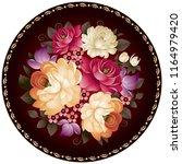 zhostovo style russian...   Shutterstock .eps vector #1164979420