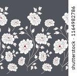 white flower horizontal border... | Shutterstock .eps vector #1164982786
