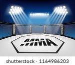 empty cage martial arts... | Shutterstock .eps vector #1164986203