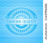 genuine quality water concept... | Shutterstock .eps vector #1164986686