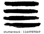 collection of hand drawn black... | Shutterstock .eps vector #1164989869