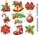 christmas objects | Shutterstock .eps vector #116499046