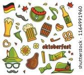 vintage 80s 90s oktoberfest... | Shutterstock .eps vector #1164991960