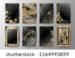 set of elegant brochure  card ... | Shutterstock .eps vector #1164993859
