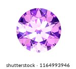beautiful gems on a white... | Shutterstock . vector #1164993946