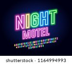 vector neon colorful emblem... | Shutterstock .eps vector #1164994993
