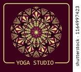 mandala  emblem  ornament ... | Shutterstock .eps vector #1164997423