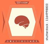 human brain icon | Shutterstock .eps vector #1164998803