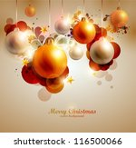 christmas background | Shutterstock .eps vector #116500066