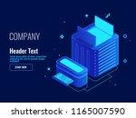 cloud data storage  server room ...   Shutterstock .eps vector #1165007590