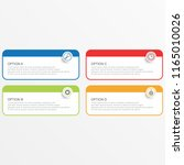 infographic template with... | Shutterstock .eps vector #1165010026