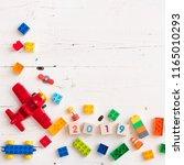 closeup of children colorful... | Shutterstock . vector #1165010293