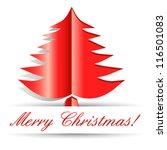 christmas card   vector... | Shutterstock .eps vector #116501083