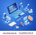 business network database... | Shutterstock .eps vector #1165011313