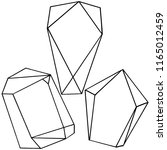 vector diamond rock jewelry... | Shutterstock .eps vector #1165012459