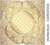 golden ornate decorative...   Shutterstock .eps vector #1165014226