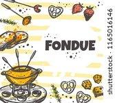 fondue concept design.... | Shutterstock .eps vector #1165016146