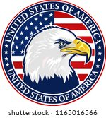 american eagle with usa flags | Shutterstock . vector #1165016566