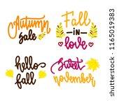 set of autumn lettering... | Shutterstock .eps vector #1165019383