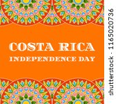 costa rica independence day  15 ... | Shutterstock .eps vector #1165020736