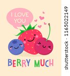 cute fruits cartoon... | Shutterstock .eps vector #1165022149