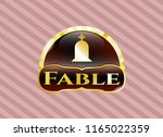 gold badge or emblem with... | Shutterstock .eps vector #1165022359