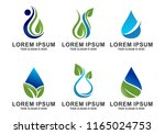 set of water drop logo vector | Shutterstock .eps vector #1165024753